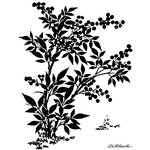 LaBlanche - Background Collection - Foam Mounted Silicone Stamp - Chinese Bush