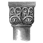 LaBlanche - Medieval Ornament Collection - Foam Mounted Silicone Stamp - Column Design 1