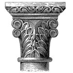LaBlanche - Medieval Ornament Collection - Foam Mounted Silicone Stamp - Column Design 3
