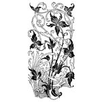LaBlanche - Ornaments Collection - Foam Mounted Silicone Stamp - Leaves Art Niveau