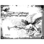 LaBlanche - Cherubs Collection - Foam Mounted Silicone Stamp - Angels with Trumpets