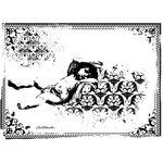 LaBlanche - Cherubs Collection - Foam Mounted Silicone Stamp - Sleeping Cherub in Frame