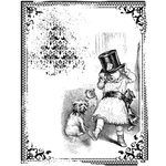 LaBlanche - Children Collection - Foam Mounted Silicone Stamp - Child with Hat in Frame