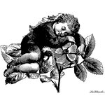 LaBlanche - Children Collection - Foam Mounted Silicone Stamp - Sleeping Boy Collage