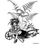 LaBlanche - Children Collection - Foam Mounted Silicone Stamp - Child Under a Fern Collage