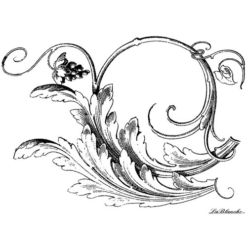 LaBlanche - Flowers and Ornaments Collection - Foam Mounted Silicone Stamp - Vine Swirl
