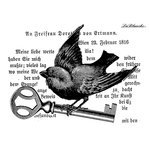 LaBlanche - Foam Mounted Silicone Stamp - Black Bird