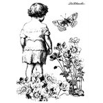LaBlanche - Foam Mounted Silicone Stamp - Pondering Child