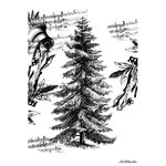 LaBlanche - Foam Mounted Silicone Stamp - Tree with Notes
