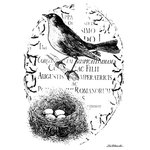LaBlanche - Foam Mounted Silicone Stamp - Birds Nest