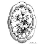 LaBlanche - Foam Mounted Silicone Stamp - Framed Blossoms