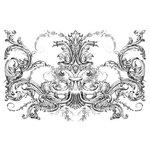 LaBlanche - Foam Mounted Silicone Stamp - Victorian Swirl