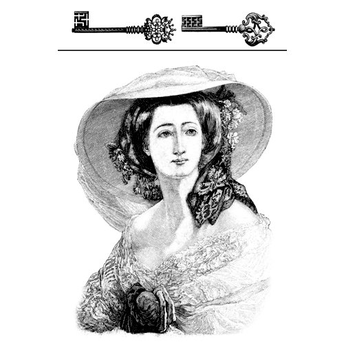 LaBlanche - Foam Mounted Silicone Stamp - Madame Chloe and Keys