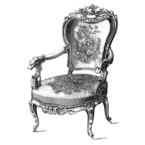 LaBlanche - Foam Mounted Silicone Stamp - Antique Chair