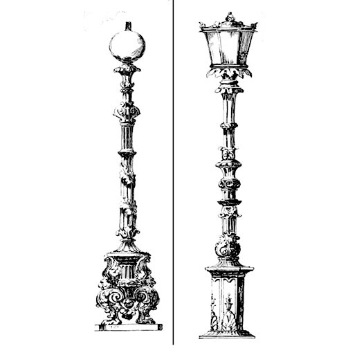 LaBlanche - Foam Mounted Silicone Stamp - Street Lamps