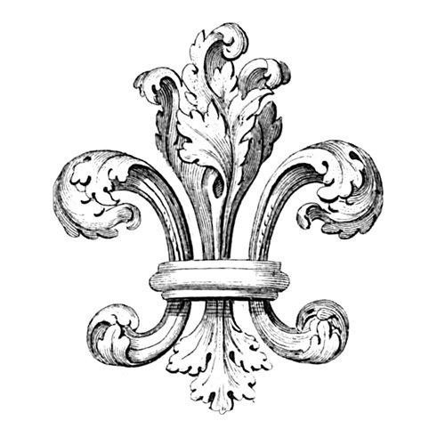 LaBlanche - Foam Mounted Silicone Stamp - Fleur de Lis