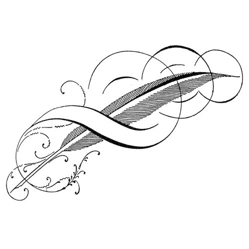 LaBlanche - Foam Mounted Silicone Stamp - Feathered Swirl