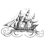 LaBlanche - Foam Mounted Silicone Stamp - Galleon