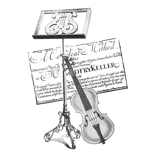 LaBlanche - Foam Mounted Silicone Stamp - Violin Collage