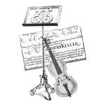 LaBlanche - Foam Mounted Silicone Stamp - Violin Collage