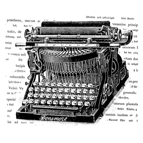 LaBlanche - Foam Mounted Silicone Stamp - Typewriter