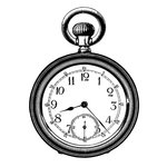 LaBlanche - Foam Mounted Silicone Stamp - Large Pocket Watch