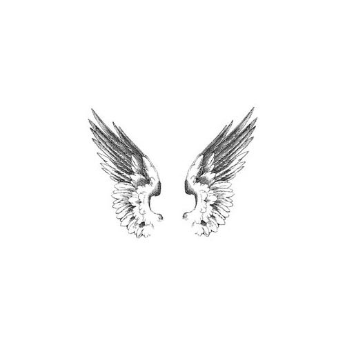 LaBlanche - Foam Mounted Silicone Stamp - Two Wings