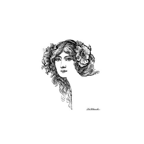 LaBlanche - Foam Mounted Silicone Stamp - Floral Hair-Do