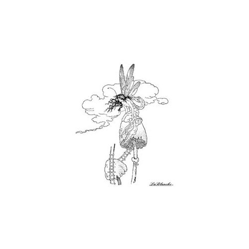 LaBlanche - Foam Mounted Silicone Stamp - Fairy on a Mushroom
