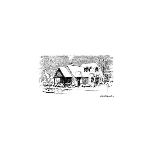 LaBlanche - Christmas - Foam Mounted Silicone Stamp - Winter House