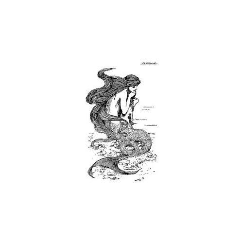 LaBlanche - Foam Mounted Silicone Stamp - Musing Mermaid