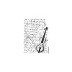 LaBlanche - Foam Mounted Silicone Stamp - Script and Violin