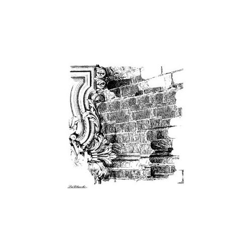LaBlanche - Foam Mounted Silicone Stamp - Brick Background