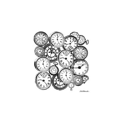 LaBlanche - Foam Mounted Silicone Stamp - Clock Background