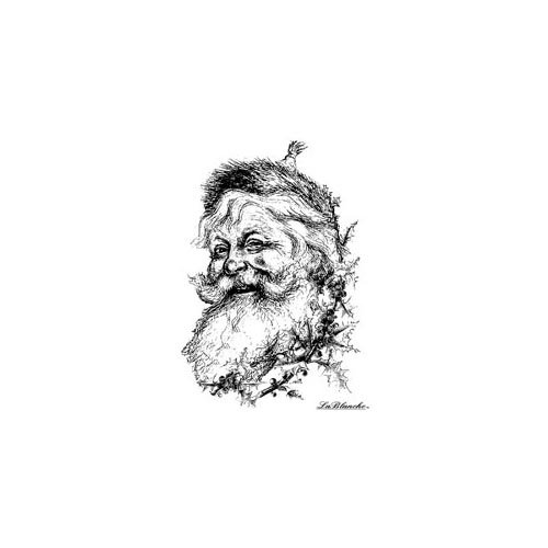 LaBlanche -Christmas -  Foam Mounted Silicone Stamp - Smiling Santa