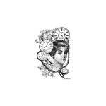 LaBlanche - Foam Mounted Silicone Stamp - Woman Collage