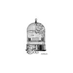 LaBlanche - Foam Mounted Silicone Stamp - Swirled Birdcage