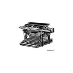 LaBlanche - Foam Mounted Silicone Stamp - Ancient Typewriter