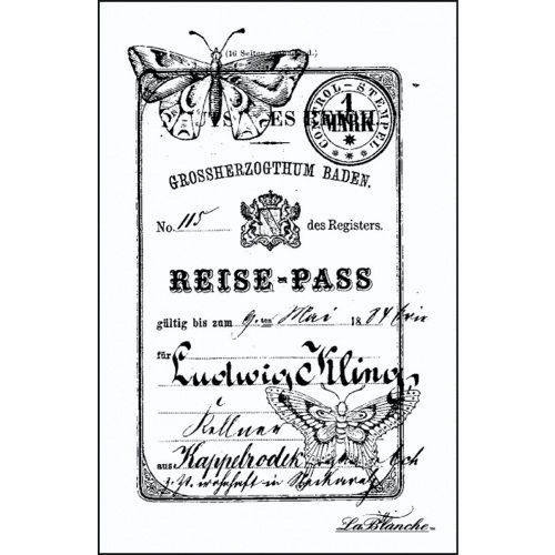 LaBlanche - Foam Mounted Silicone Stamp - Reise Pass
