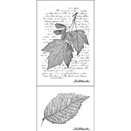 LaBlanche - Foam Mounted Silicone Stamp - Leaves