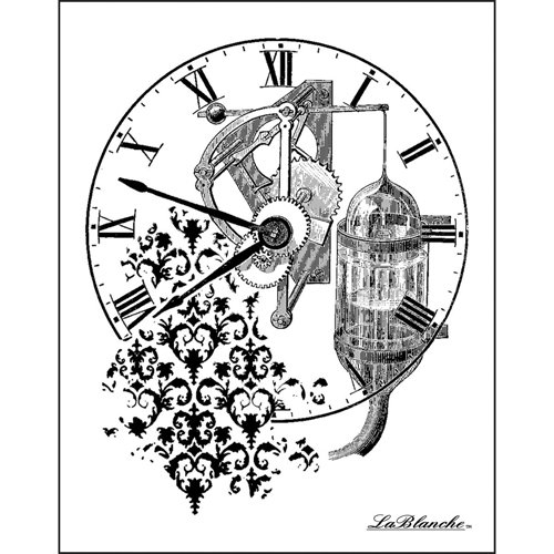 LaBlanche - Foam Mounted Silicone Stamp - Time Collage