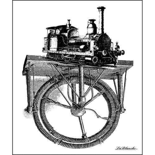 LaBlanche - Foam Mounted Silicone Stamp - Train