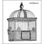 LaBlanche - Foam Mounted Silicone Stamp - Oriental Bird Cage