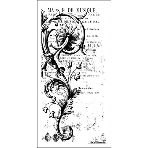 LaBlanche - Foam Mounted Silicone Stamp - Swirl Background