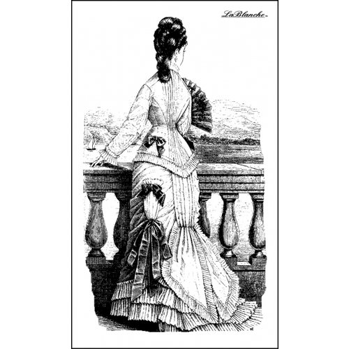 LaBlanche - Foam Mounted Silicone Stamp - Gazing Lady
