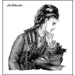 LaBlanche - Foam Mounted Silicone Stamp - Thoughtful Lady