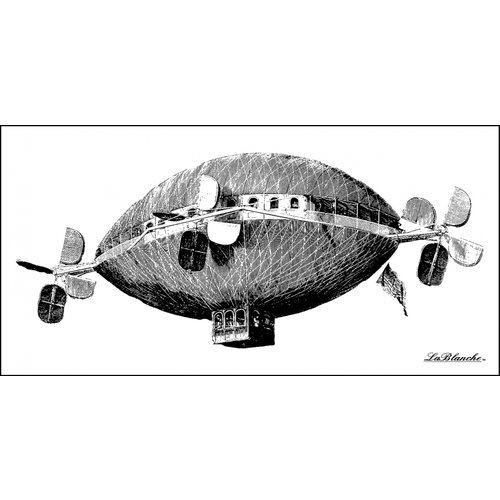 LaBlanche - Foam Mounted Silicone Stamp - Imaginative Air Balloon