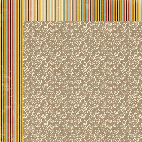 Lily Bee Design - Autumn Spice Collection - 12 x 12 Double Sided Paper - Vanilla