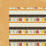 Lily Bee Design - Autumn Spice Collection - 12 x 12 Double Sided Paper - Brown Sugar