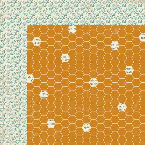 Lily Bee Design - Autumn Spice Collection - 12 x 12 Double Sided Paper - Pumpkin Spice